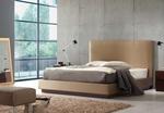 Мебели - тапицирано легло с естествена кожа по поръчка