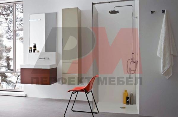 модернистични  шкафове за баня по проект
