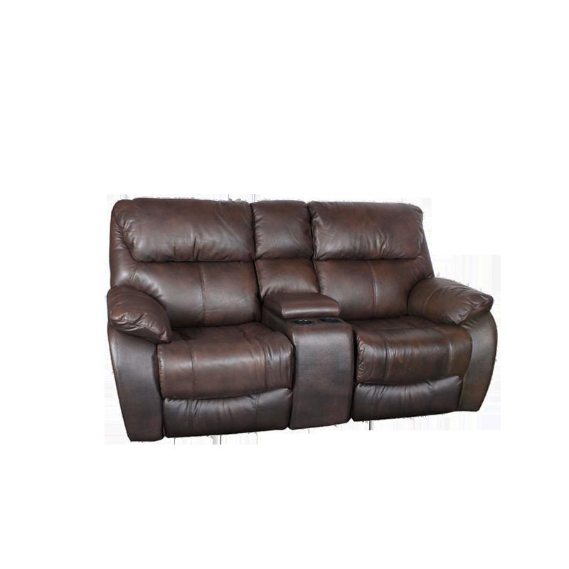 Кожени релакс гарнитури - Кожен диван - двойка с релакс механизъм BAR - метално кафяво