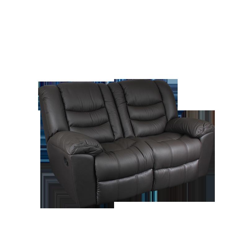 Кожени релакс гарнитури - Кожен диван - двойка с релакс механизъм MARS - шоколад